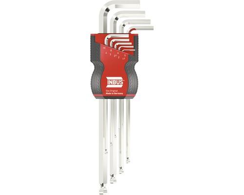 Jeu de clés 6 pans INBUS 70167 1.5-10mm avec tête sphérique 9pces
