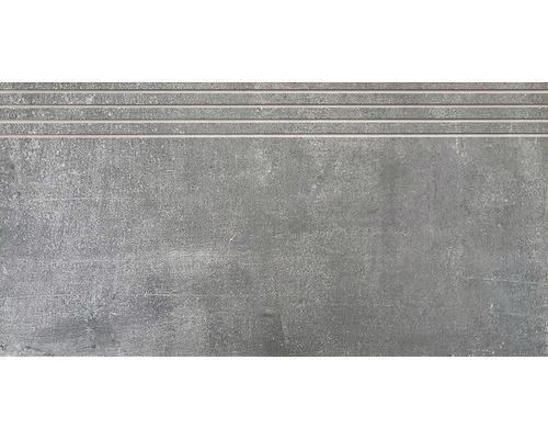 Carrelage de marche Metropolitan dark grey 30 x 60 cm