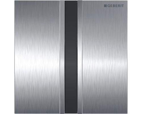 Commande d''urinoir GEBERIT type 50 sans contact infrarouge fonctionnement sur pile chrome brossé 116.036.GH.1