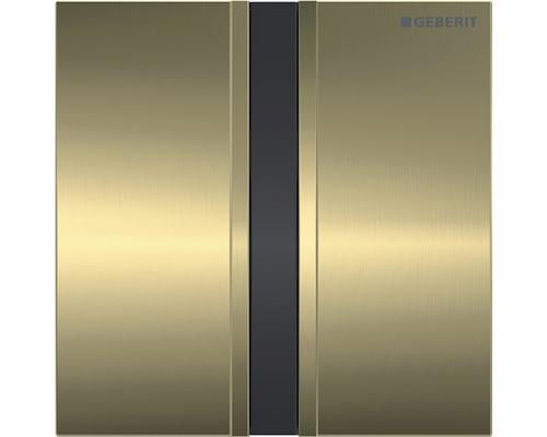 Commande d''urinoir GEBERIT type 50 sans contact infrarouge fonctionnement sur secteur laiton brossé 116.026.QF.1