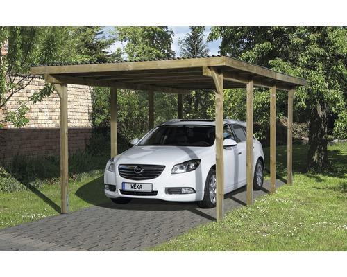 Carport simple weka 606 Taille 2, 300 x 600 cm traité en autoclave par imprégnation