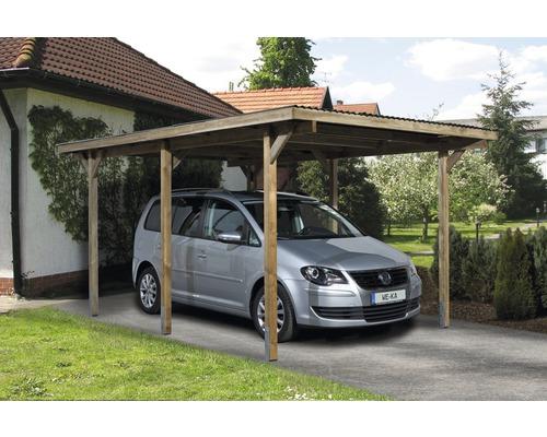 Carport simple weka 606 Taille 1, 300 x 500 cm traité en autoclave par imprégnation
