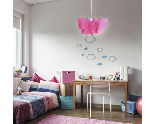 Suspension pour chambre d''enfant Vlinder 1 ampoule rose fuchsia-0