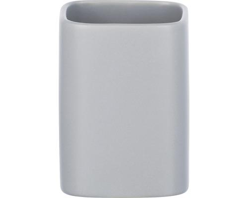 Gobelet pour brosses à dents Wenko Hexa céramique gris mat