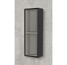 Étagère 20x60x12 cm noir à haute brillance-thumb-1