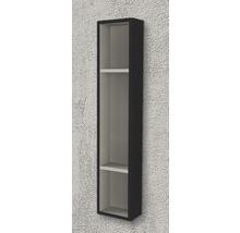 Étagère 20x100x12 cm noir à haute brillance-thumb-1
