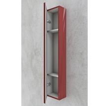 Armoire suspendue 200x100x14 cm rouge à haute brillance-thumb-2
