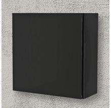 Armoire suspendue 40x40x17 cm 1 porte noir à haute brillance-thumb-1