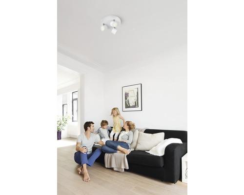 Spot de plafond à Led Star blanc avec 3 ampoules 3x500 lm 2700 K blanc chaud Ø 198 mm
