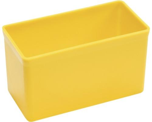 Boîte en plastique jaune L:108x:l54xH63mm
