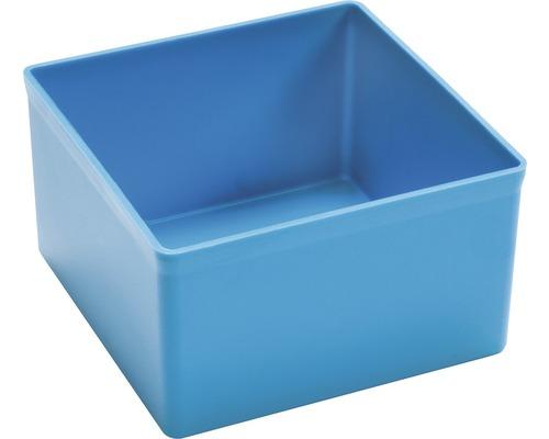 Boîte en plastique bleu L:108xl:108xH:63mm