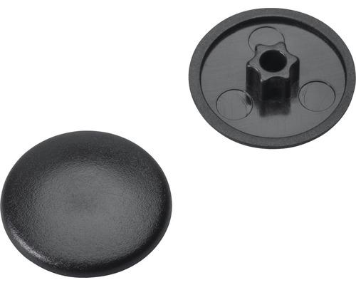 Caches gr. 25 pour empreinte étoile noirs en plastique 200 unités