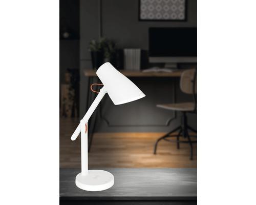 Lampe de bureau LED à intensité lumineuse variable 15W 200 lm 3000-6000 K blanc chaud/blanc neutre/blanc lumière du jour Smart blanc h 350 mm commandable par application avec changement de couleur