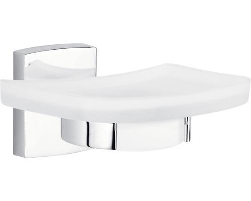Porte-savon tesa KLAAM chrome avec plaque de verre