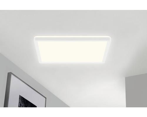 Panneau LED CCT à intensité lumineuse variable 22W 3000 lm 3000/4000/6000 K blanc chaud - blanc lumière du jour hxLxl 29x420x420 mm blanc avec rétro-éclairage + télécommande