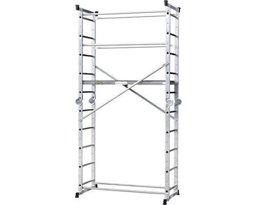 Échafaudage/échelle articulée CLASSIK 5 en 1 aluminium hauteur de travail 3,9 m