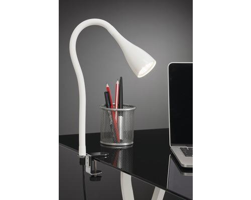 Lampe de bureau LED à pince Elasti noire avec 1 ampoule 250 lm 3000 K blanc chaud H 600 mm