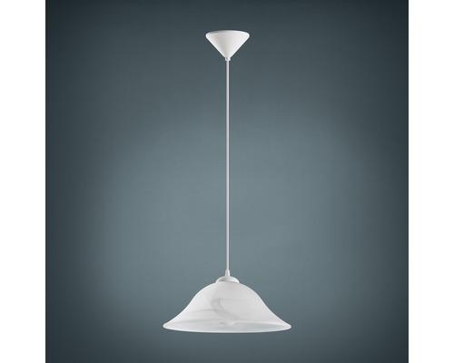 Suspension verre 1 lumière hxØ 1100x350 mm Albany blanc/albâtre-0