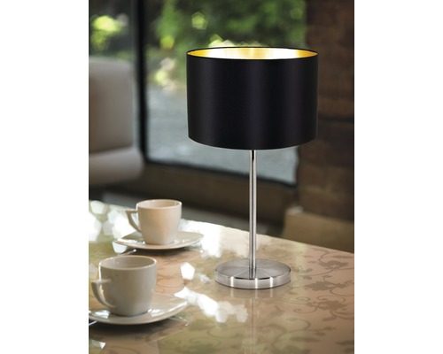 Lampe de table Maserlo monolampe it/brun nickel mat/noir or H 420 mm-0