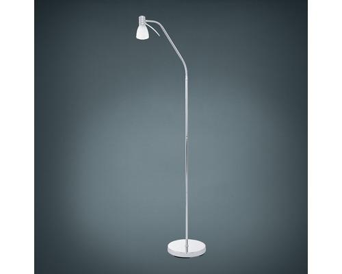Lampadaire LED 4W 320lm 3000K blanc chaud h 1400mm Prince chrome
