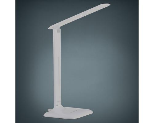Lampe de bureau LED à intensité lumineuse variable 2,9W 280 lm 3.000/6.500 K blanc chaud/blanc lumière du jour H 550 mm Caupo blanc