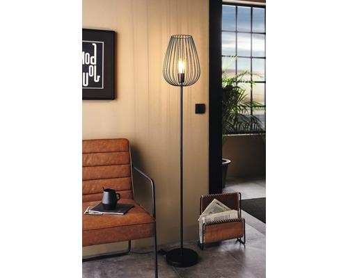 Lampadaire 1 ampoule H 1595mm Newtown noir
