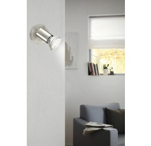 Spot LED Buzz 1x3W/GU10 nickel/mat 92595-thumb-0