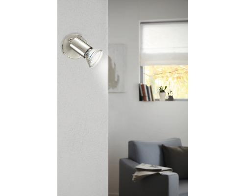 Spot LED Buzz 1x3W/GU10 nickel/mat 92595-0