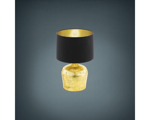 Lampe de table Manalba noir/or 1 ampoule h 380 mm
