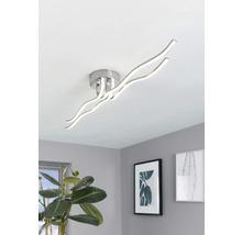 Plafonnier LED acier-plastique 40W 3600 lm 3000 K blanc chaud hxlxL 75x180x1160 mm Roncade chrome/blanc-thumb-0