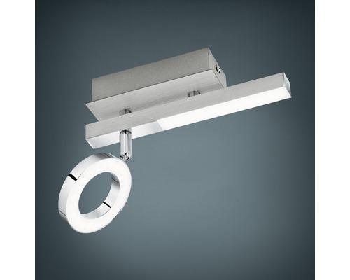 Spot patère LED 2,2W 400 lm 3000 K blanc chaud lxL 65x225 mm Cardillo alu/chrome/satiné