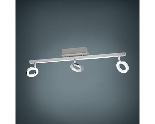 Spot de plafond LED 3x3,3W 3x400 lm 3000 K blanc chaud lxL 85x690 Cardillo alu/chrome/satiné
