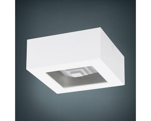 Plafonnier LED 6,3W 840lm 3000K blanc chaud 140x140mm Ferreros blanc