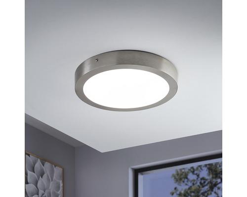 Plafonnier LED RGB CCT nickel/mat à intensité lumineuse variable 21W 2700 lm 2765 K blanc chaud Ø 300 mm