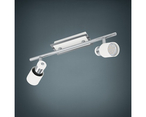 Spot LED Davida 2x5W/GU10 chrome/blanc
