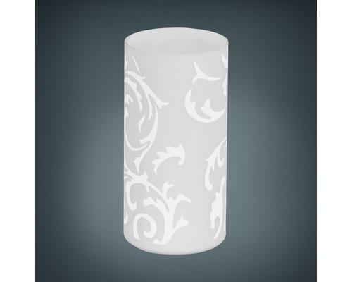 Lampe de table verre 1 ampoule hxØ 200x100 mm Geo blanc avec interrupteur de câble