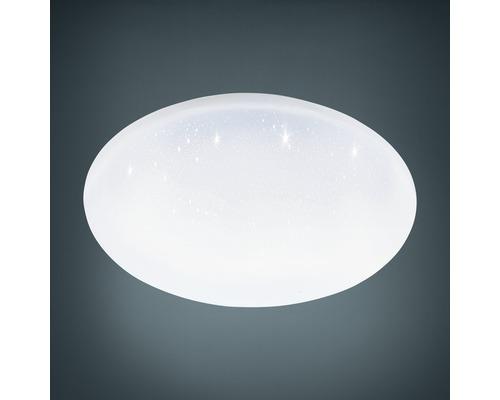Plafonnier LED RGB CCT à intensité lumineuse variable avec effet cristal 22W 2400 lm 2700-6500 K blanc chaud - blanc naturel Crosslink hxØ 65x400 mm avec télécommande
