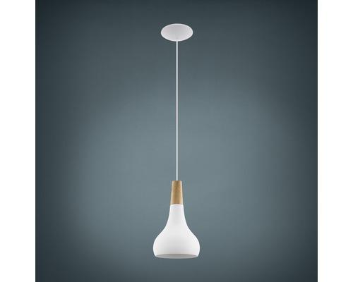 Suspension métal/bois 1 lumière hxØ 1100x180 mm Sabinar blanc/marron clair