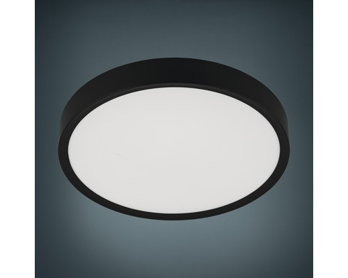 Plafonnier LED plastique-acier 36W 3900 lm 3000 K blanc chaud hxL 75x440 mm Musurita blanc/noir