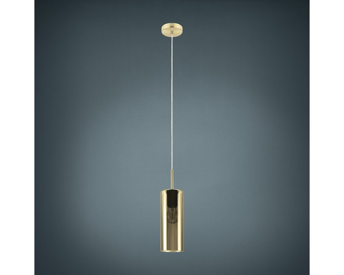 Suspension métal 1 lumière hxLxl 1100x710x100 mm Selvino nickel-mat/aspect doré