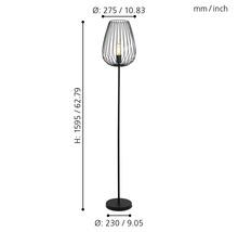 Lampadaire 1 ampoule H 1595mm Newtown noir-thumb-2