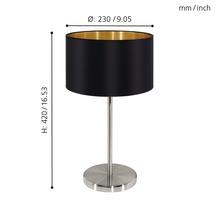 Lampe de table Maserlo monolampe it/brun nickel mat/noir or H 420 mm-thumb-3