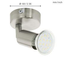 Spot LED Buzz 1x3W/GU10 nickel/mat 92595-thumb-3