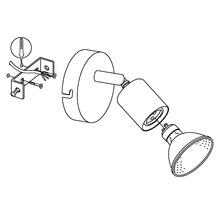 Spot LED Buzz 1x3W/GU10 nickel/mat 92595-thumb-4
