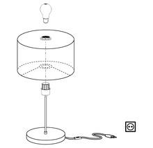 Lampe de table Maserlo monolampe it/brun nickel mat/noir or H 420 mm-thumb-4