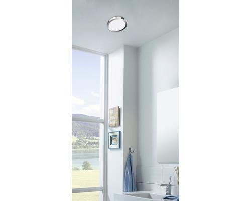 Plafonnier salle de bains LED IP44 21W 2000 lm 2700/4000 K, blanc chaud/blanc neutre Cool&Cosy chromé/blanc Ø 300 mm