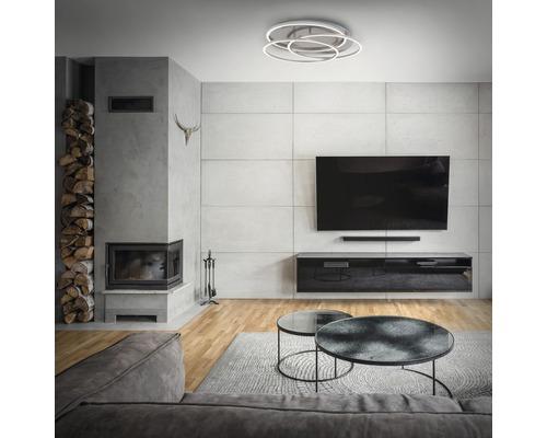 Plafonnier LED à intensité lumineuse variable 1x60W 1x4800 lm 3000 K blanc chaud Frames nickel/mat Øxh 546/100 mm