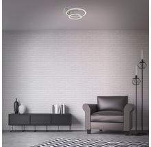 Plafonnier LED à intensité lumineuse variable 1x30W 1x2400 lm 3000 K blanc chaud Frames nickel/mat Lxlxh 390/300/80 mm-thumb-2