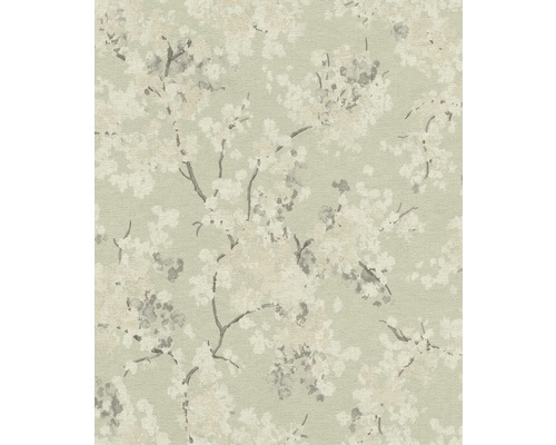 Papier peint intissé 814354 Barbara Schöneberger fleurs de cerisier menthe