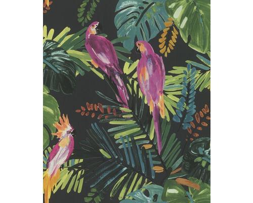 Papier peint intissé 814729 Barbara Schöneberger perroquet noir